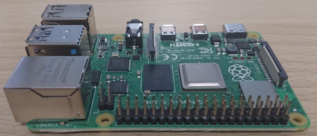 Raspberry Pi4 Model B 4GB RAM element14版 GPIO側